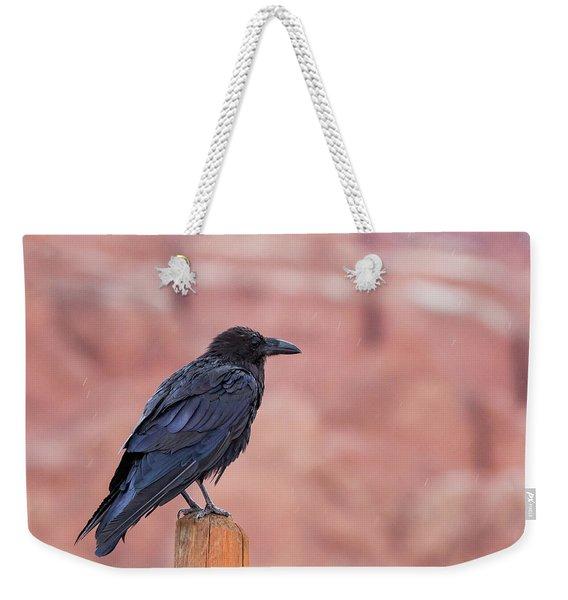 The Rainy Raven Weekender Tote Bag