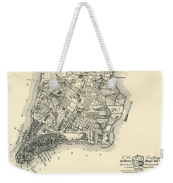 The Ratzer Map Of The City Of New York, 1767 Weekender Tote Bag