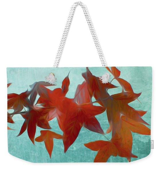 The Red Leaves Weekender Tote Bag