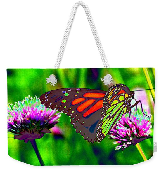 The Red Monarch Butterfly Weekender Tote Bag