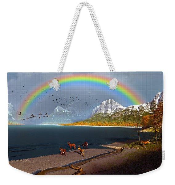 The Rings Of Eden Weekender Tote Bag