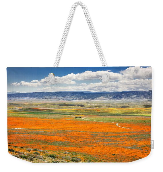 The Road Through The Poppies 2 Weekender Tote Bag