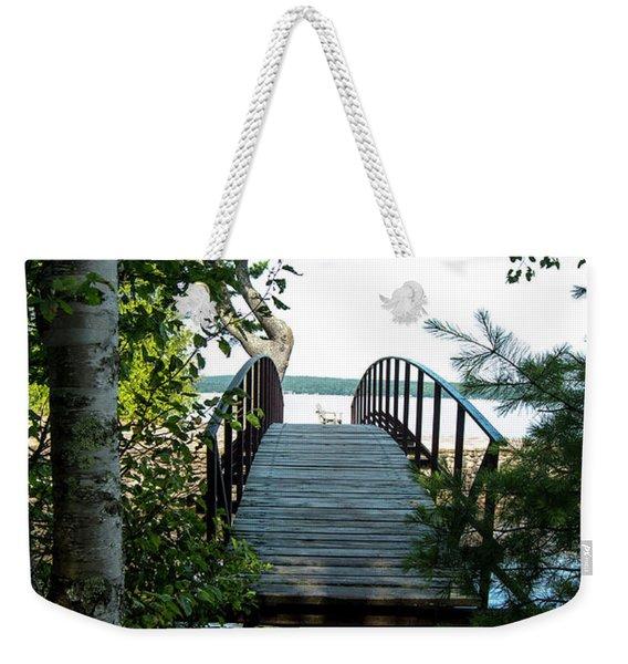 The Rock River Foot Bridge Weekender Tote Bag