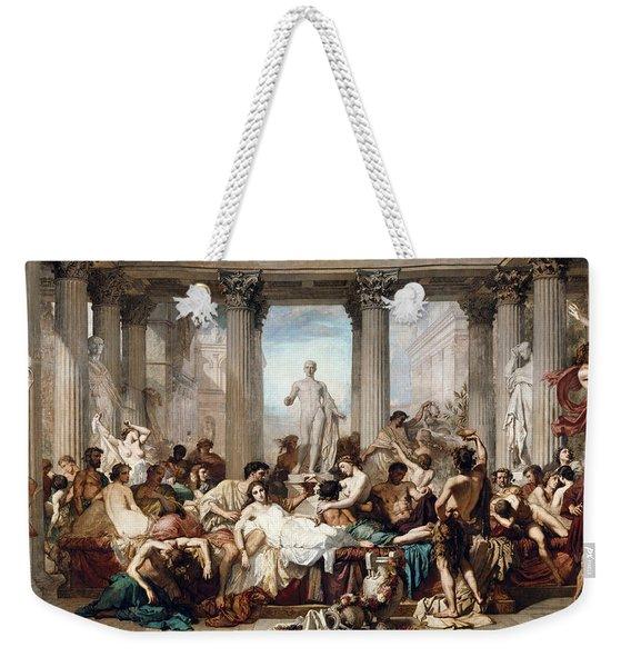 The Romans In Their Decadence Weekender Tote Bag