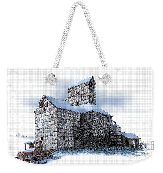 The Ross Elevator Winter Weekender Tote Bag