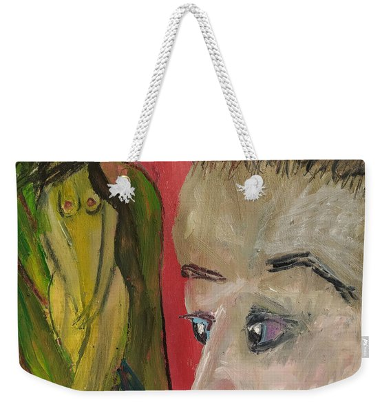 The Sexy Man With The Watery Blue Eyes Weekender Tote Bag