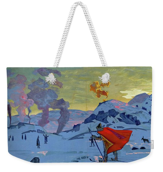 The Signal Fires Of Peace, 1917-1918 Weekender Tote Bag