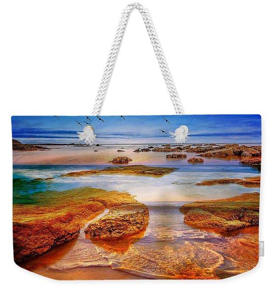 The Silent Morning Tide Weekender Tote Bag