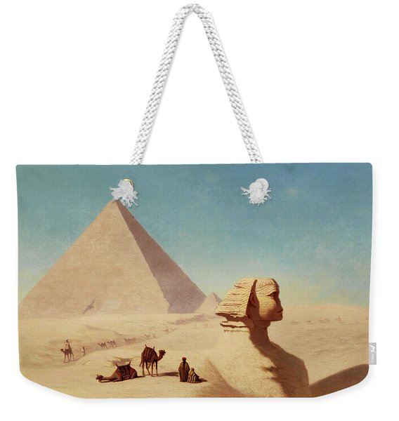 The Sphinx Of Giza With Cheops Pyramids Weekender Tote Bag