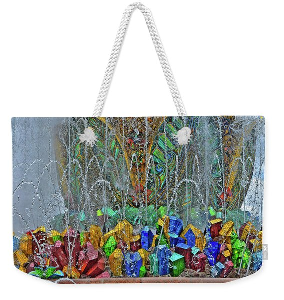 The Stone Flower Fountain. Weekender Tote Bag