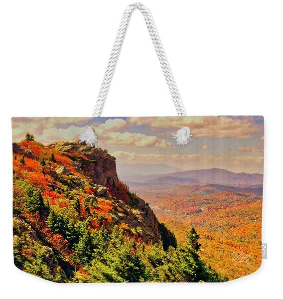 The Summit In Fall Weekender Tote Bag