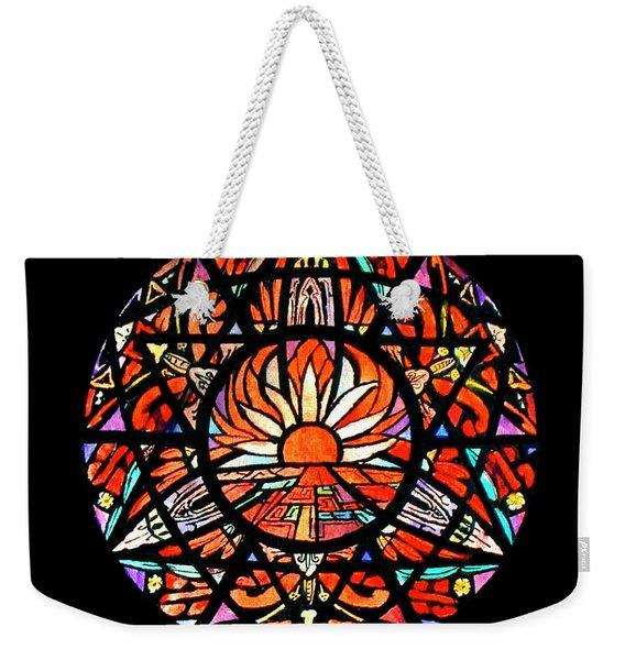 the Sun is Aflame Weekender Tote Bag