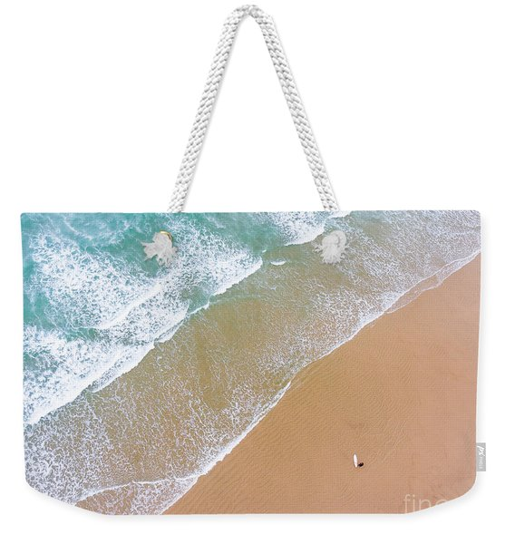 The Surfer And The Sea Weekender Tote Bag