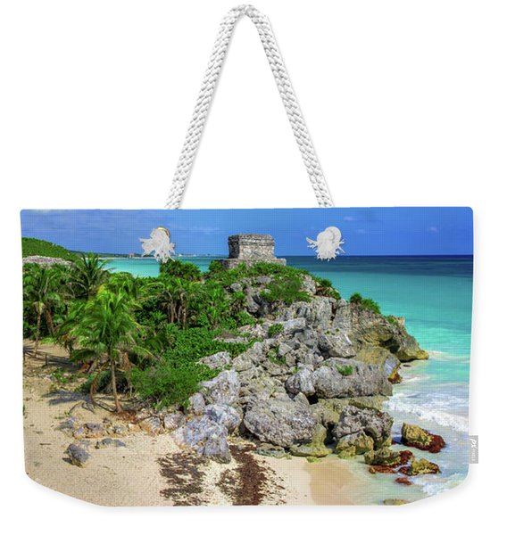 The Temple By The Sea Weekender Tote Bag