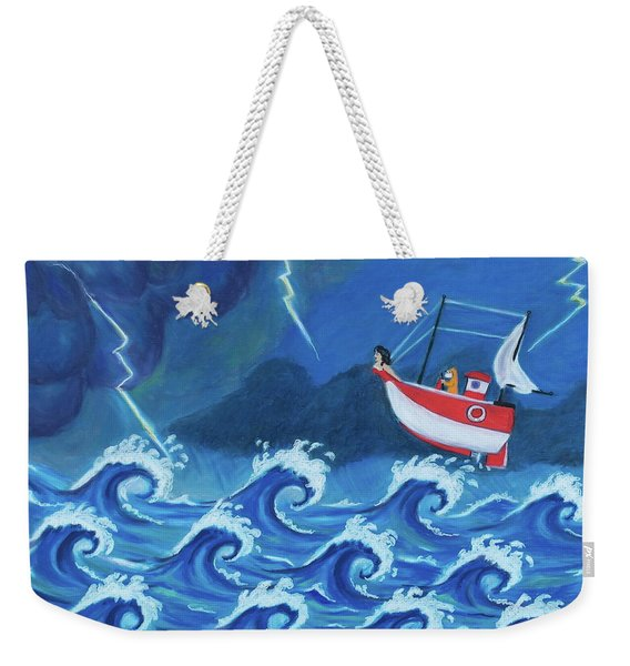 The Tiny Ship Was Tossed Weekender Tote Bag