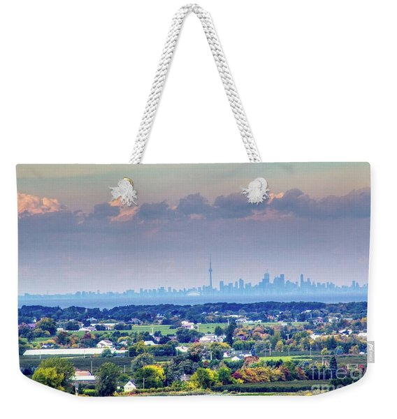 The Toronto Skyline Weekender Tote Bag