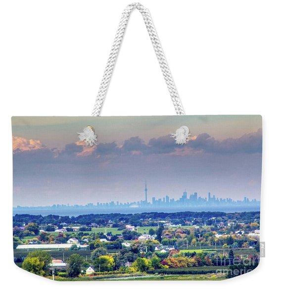 The Toronto Skyline Weekender Tote Bag