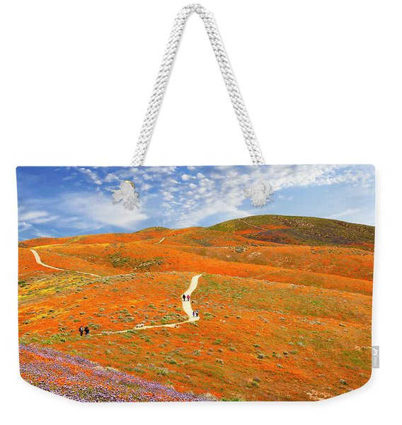 The Trail Through The Poppies Weekender Tote Bag