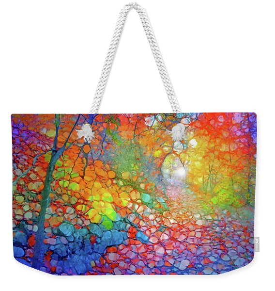 The Tree At The End Of The Leaf Laden Path Weekender Tote Bag
