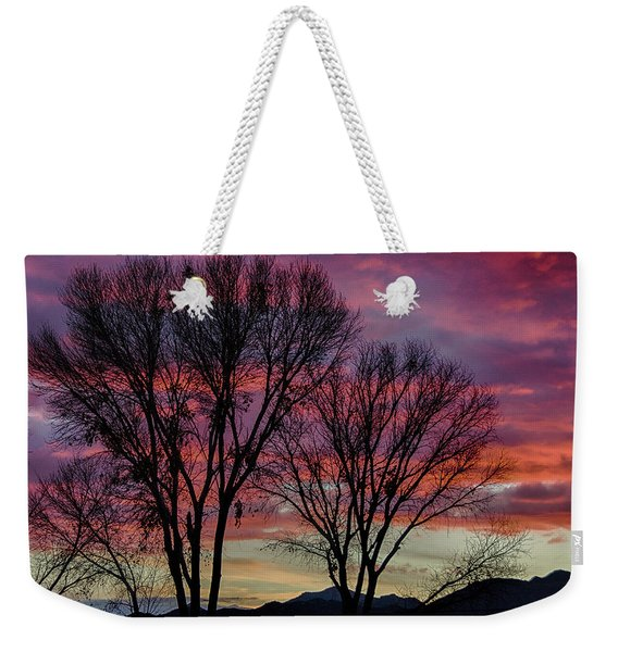 The Trees Know Sunset Weekender Tote Bag
