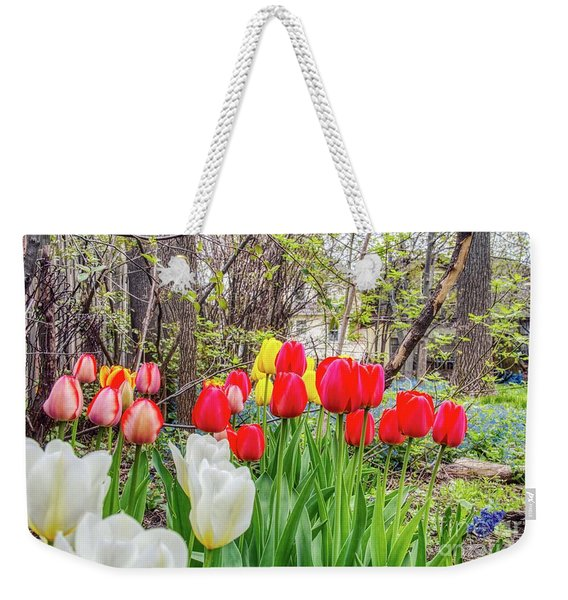 The Tulips Are Out. Weekender Tote Bag