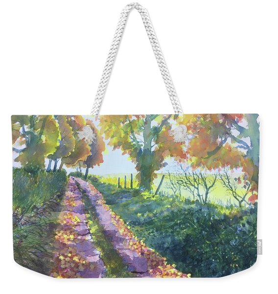 The Tunnel In Autumn Weekender Tote Bag