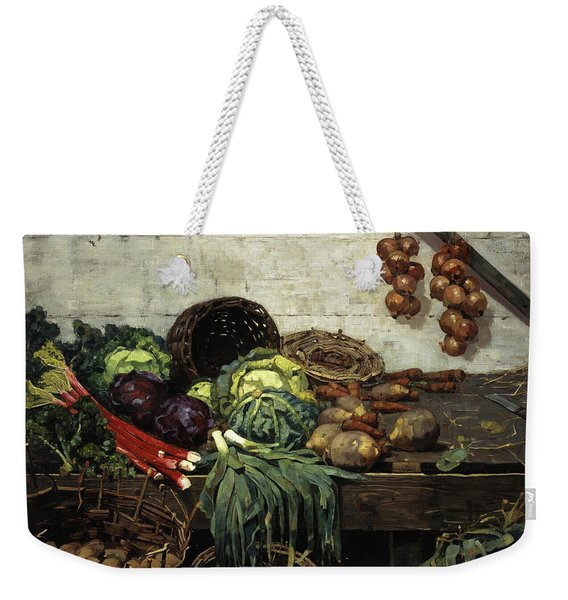 The Vegetable Stall, 1884 Weekender Tote Bag