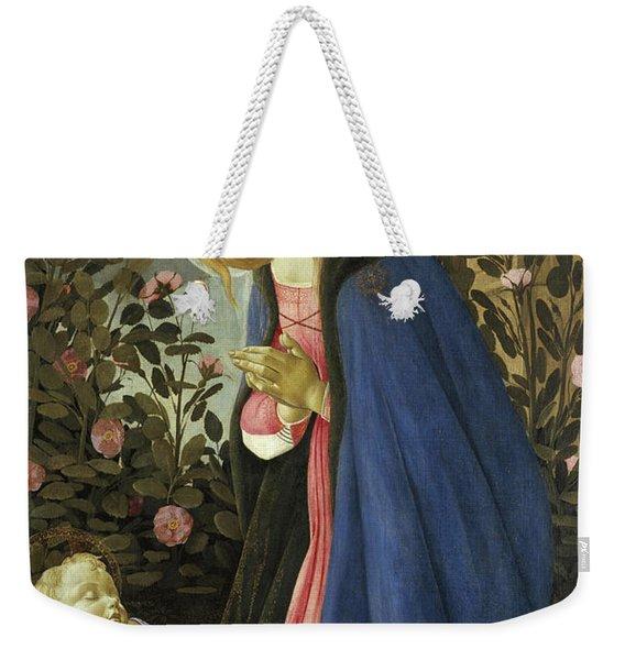 The Virgin Adoring The Sleeping Christ Child Weekender Tote Bag