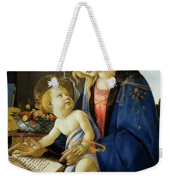 The Virgin And Child, The Madonna Of The Book Weekender Tote Bag