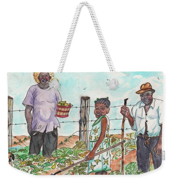 The Washington's - Our Neighbors On The Farm Weekender Tote Bag