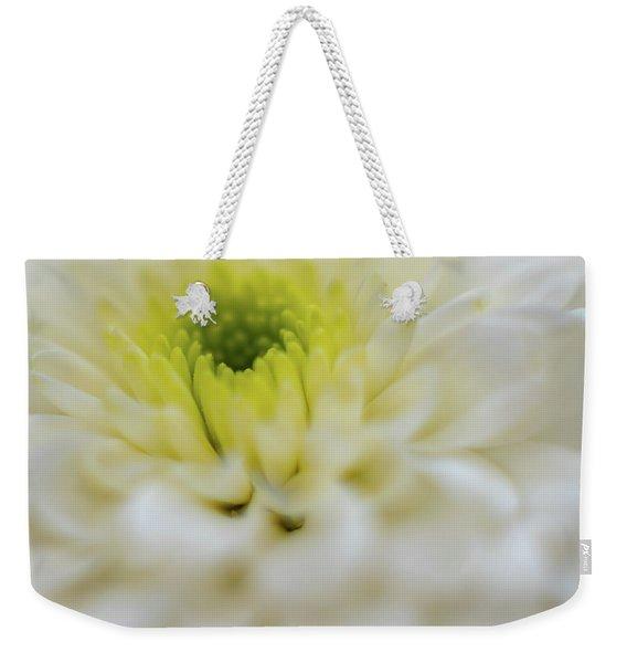The White Flower Weekender Tote Bag