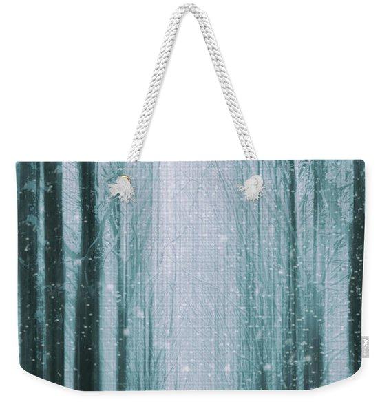 The Winter Wood Weekender Tote Bag