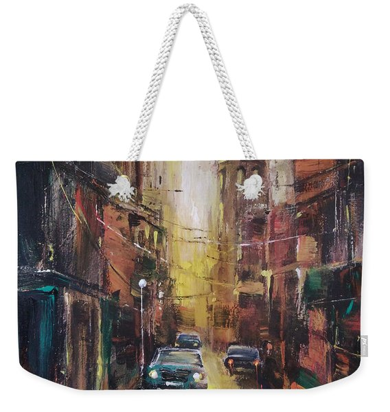The Yellow Street Weekender Tote Bag