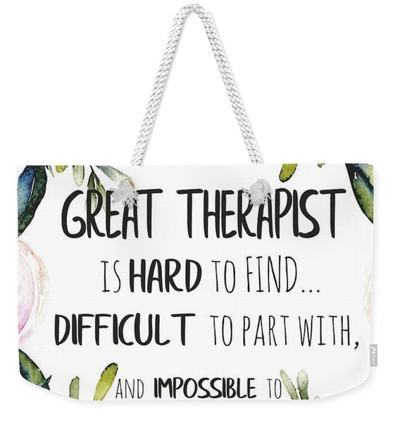 Therapist Thank You Note Weekender Tote Bag