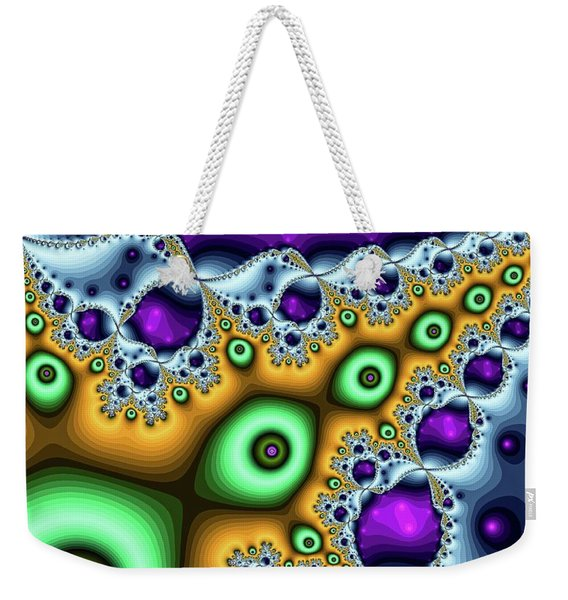 Weekender Tote Bag featuring the digital art These Eyes Are Green by Don Northup