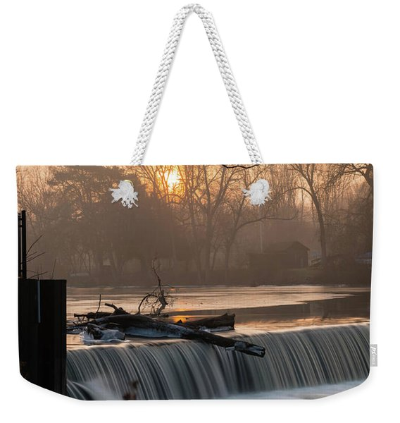 Thiensville Dam In December Weekender Tote Bag