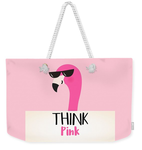 Think Pink - Baby Room Nursery Art Poster Print Weekender Tote Bag