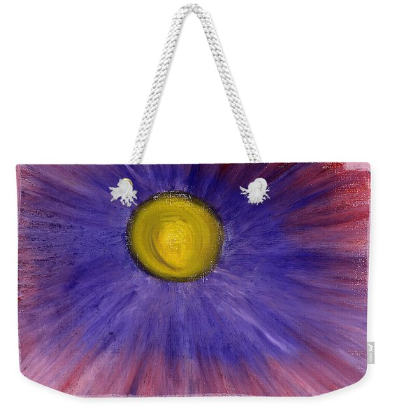 Weekender Tote Bag featuring the pastel This Is How Dreams And Nightmares Are Made Of by Bee-Bee Deigner