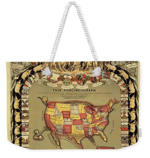 This Porcineograph Weekender Tote Bag