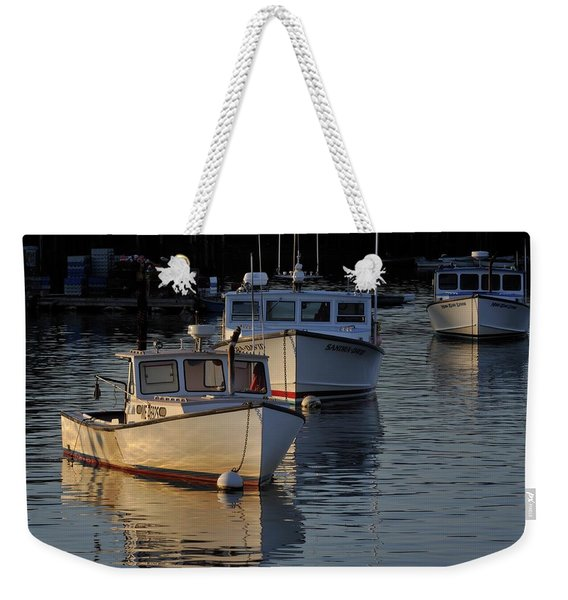 Three Boats In Maine Weekender Tote Bag