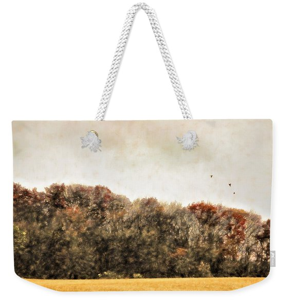 Three Crows And Golden Field Weekender Tote Bag