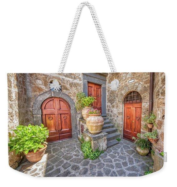 Three Doors Of Tuscany Weekender Tote Bag