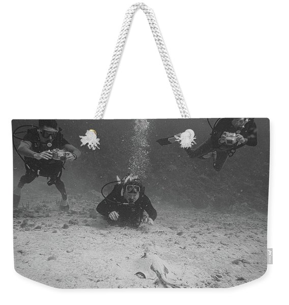 Three Guys And A Ray Weekender Tote Bag