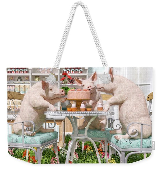 Three Little Pigs And The Birthday Cake Weekender Tote Bag