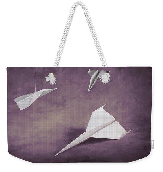 Three Paper Airplanes Weekender Tote Bag
