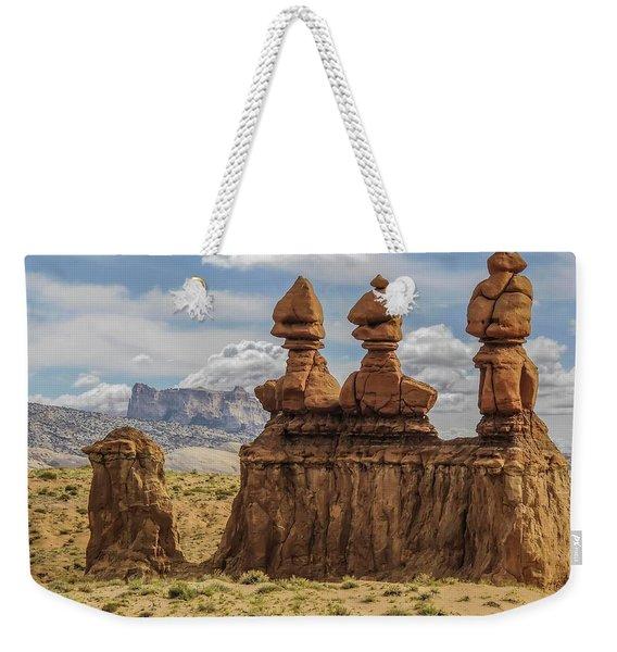 Three Sisters Hoodoos Goblin Valley State Park Weekender Tote Bag