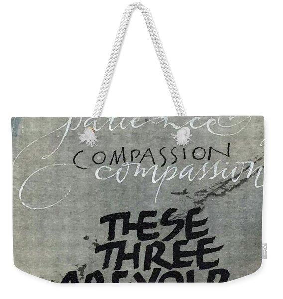 Three Treasures Weekender Tote Bag