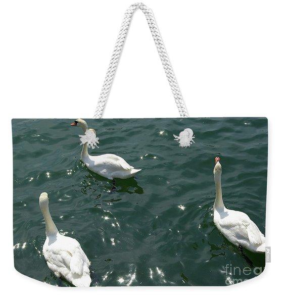 Three White Swans Weekender Tote Bag