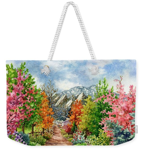 Through All Seasons Weekender Tote Bag