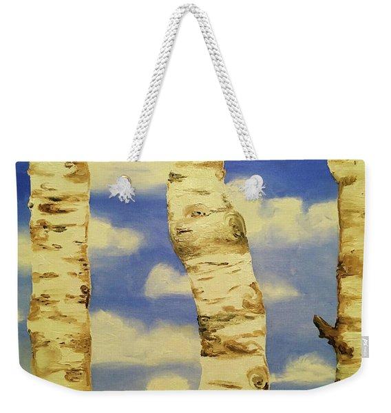Thru The Aspens View Weekender Tote Bag